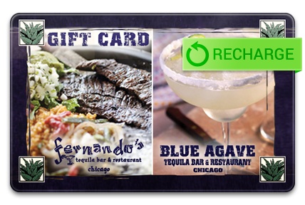 Recharge your Fernando�s Tequila Bar & Restaurant Card